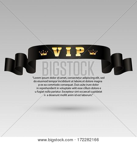 Gold Vip Label Design Vector Eps 10