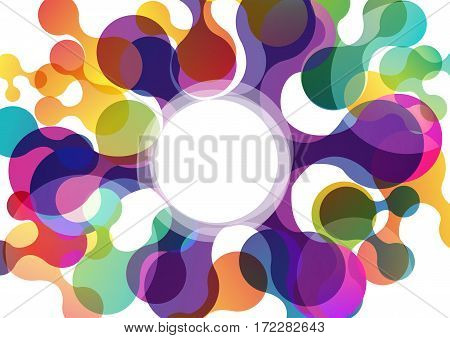 Vector Abstract shapes background with colored circles