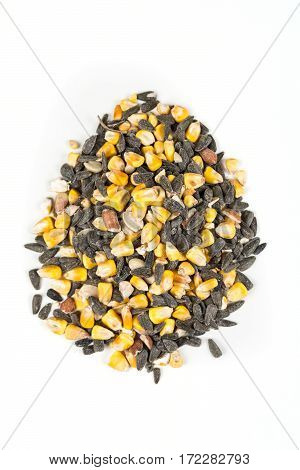 Pet Feed And Grains Isolated On A White Background