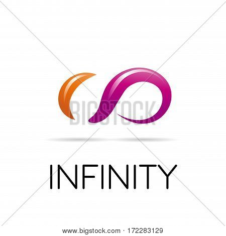 Vector sign infinity, isolated illustration on white