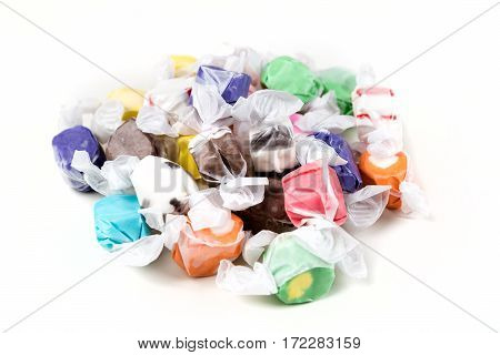 Sea Salt Taffy Isolated On A White Background