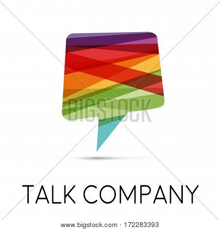 Vector sign talking, isolated illustration on white