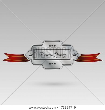 Silver Label Design Quality Vector Eps 10