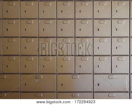 Old Locker MailBoxes postal for keep your information, bills,postcard,mails etc