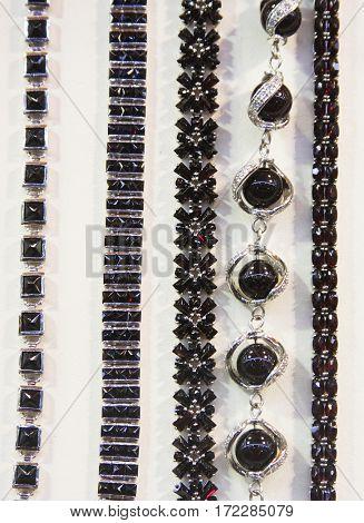 jewelry in store window, fashion