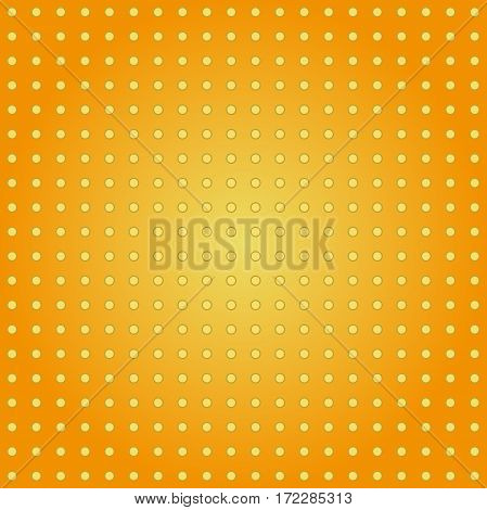 Seamless geometric pattern. Modern ornament with orange background and yellow round elements