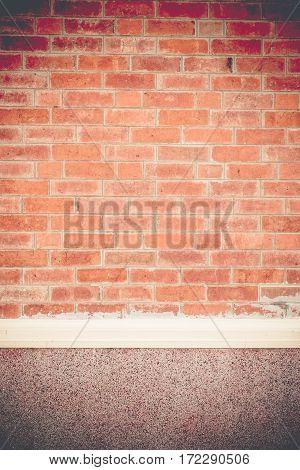 Vintage Filter,orange Brick Wall Of House Texture Background