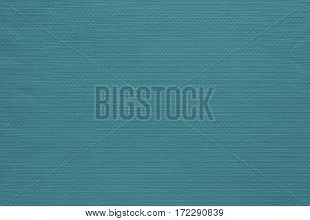 texture and background of fabric or cotton material of turquoise color