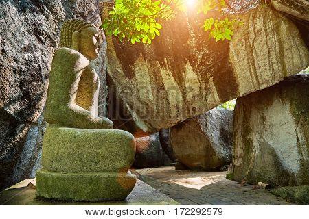 UNAWATUNASRI-LANKA/FEBRUARU 032017: Buddha figure in the territory of Yatagala Raja Maha Viharaya Temple
