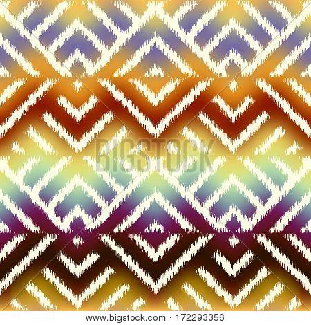Seamless background pattern. Abstract diagonal ethnic geometric pattern.