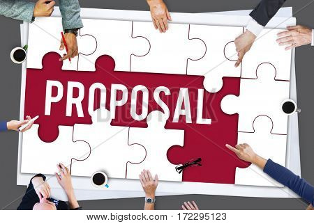 Proposal proposition word puzzle pieces