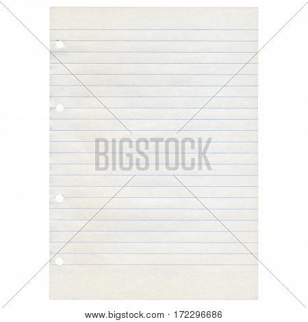 Paper Isolated Over White