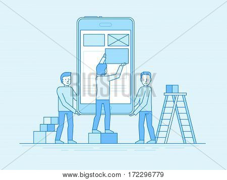 Mobile App Design And User Interface Development Concept