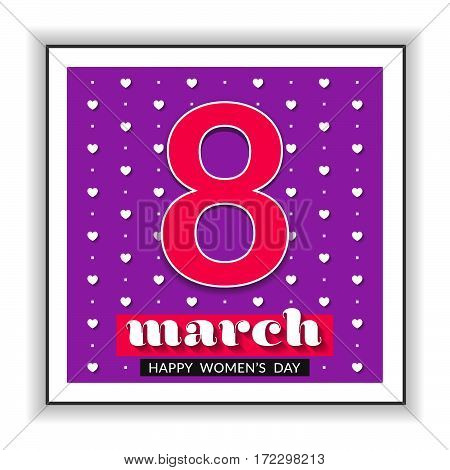8 March international women's day. Happy Mother's Day.  Happy Women's Day. Vector illustration.