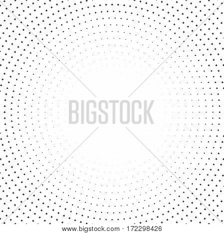 Geometric modern pattern. Fine ornament with dotted elements. Black and white pattern