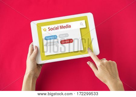 Digital Communication Social Media Graphic Words Icons