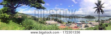 Panoramic Landscape View Of Savusavu Vanua Levu Fiji