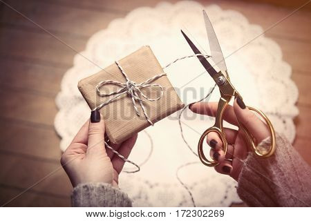 Hands Wrapping Gift