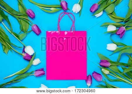 Shopping Bag And Tulips