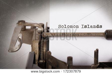 Old Typewriter - Solomon Islands