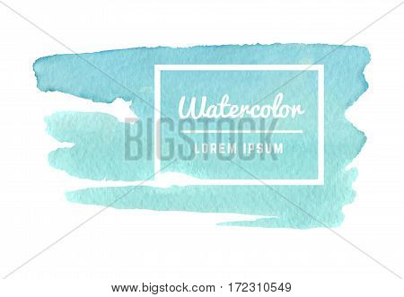 Watercolor paint splash, watercolor texture vector abstract background. Template banner with watercolor paint illustration