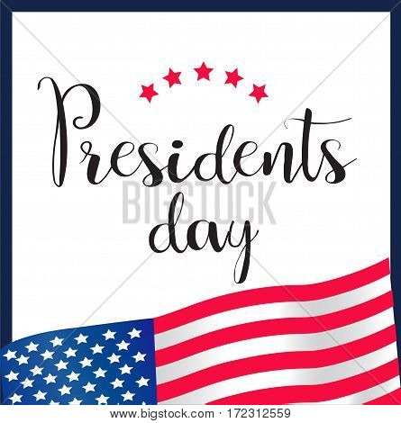 Presidents Day Icon EPS 10 vector stock illustration