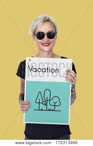 Wanderlust Outdoor Vacation Trip Icon
