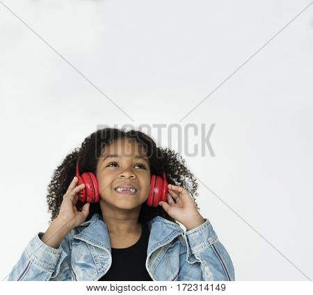 Kid Studio Shoot Listening Music Connection