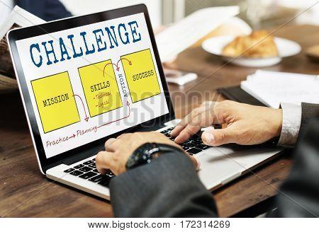 Challenge Competition Improvement Achievement Target Diagram Word