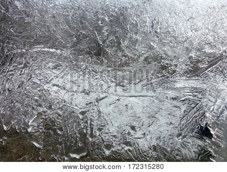Icicle Fractal Crystal Winter Background