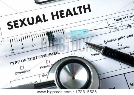 SEXUAL HEALTH Application Concept health care adult, aids, awareness,
