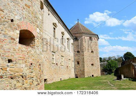 Old medieval fortress of the city Fagaras, Transylvania, Romania.