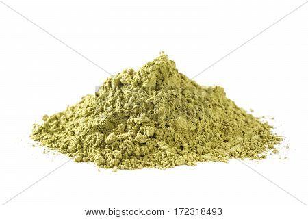 Matcha Green Tea isolated on white background