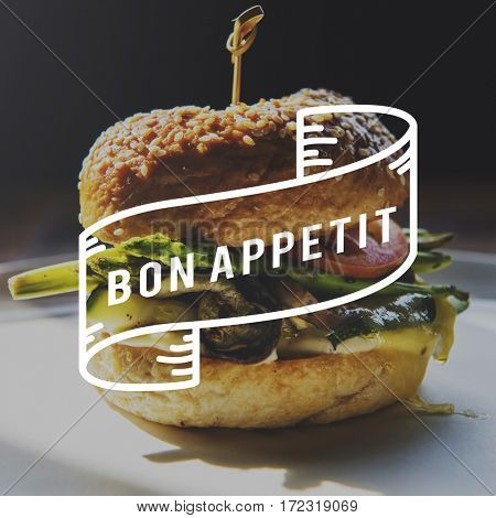 Food Words Hamburger Appetite Meal