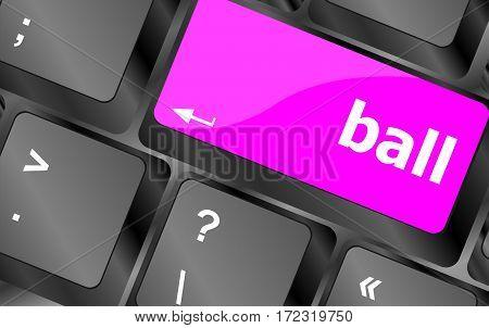 Word Ball On Computer Pc Keyboard Keys