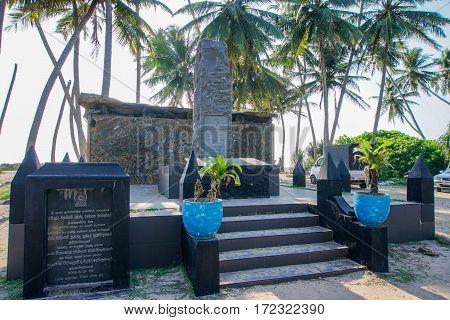 Tsunami Memorial for December 26, 2004, Hikkaduwa Sri Lanka