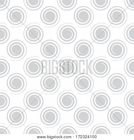 Seamless spiral pattern light gray color. Vector illustration