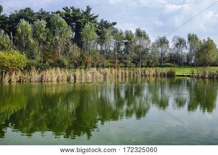 Grugnotorto park (Brianza Lombardy Italy): in october
