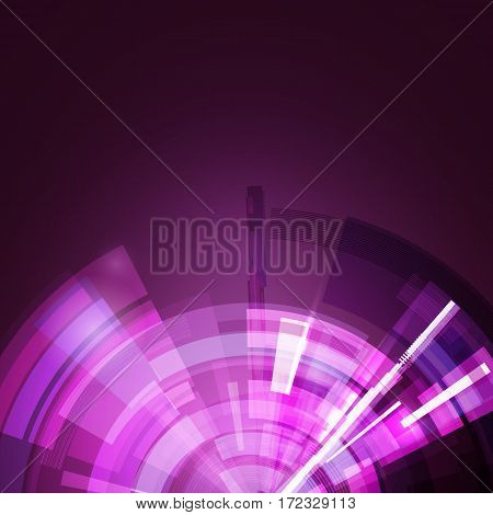 Abstract star background in purple color. Futuristic technology style. Modern background for your presentations. Vector illustration