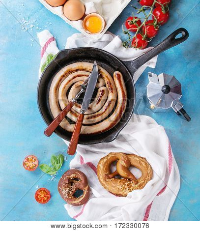 Breakfast With Fried Sausage