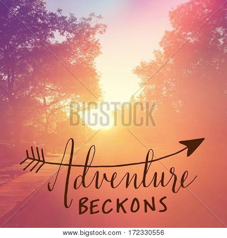 Inspirational Quote -  Adventure Beckons