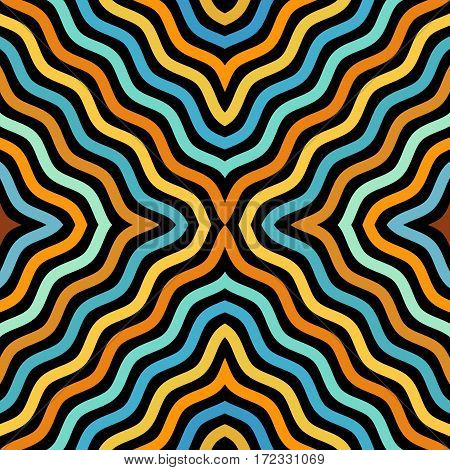 Seamless background pattern. Diagonal abstract wavy pattern