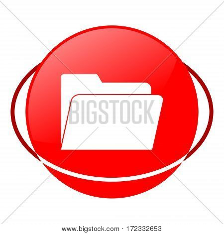 Red icon, file vector illustration on white background
