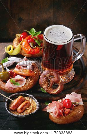 Variety Of Meat Snacks In Pretzels