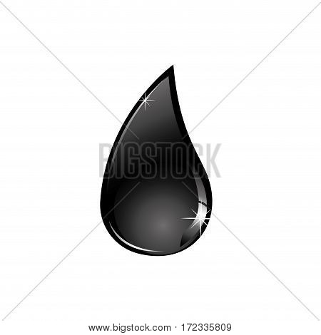 color silhouette with drop fuel of closeup vector illustration