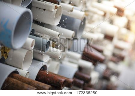 Stacking Pipe Background
