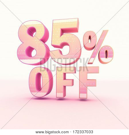 3D Rendering Pink And Yellow Color Percentage