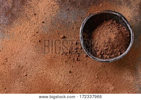 Cocoa Powder As Background