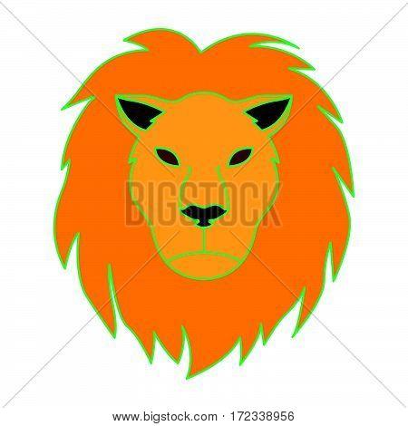 simple lion head as leo icon vector