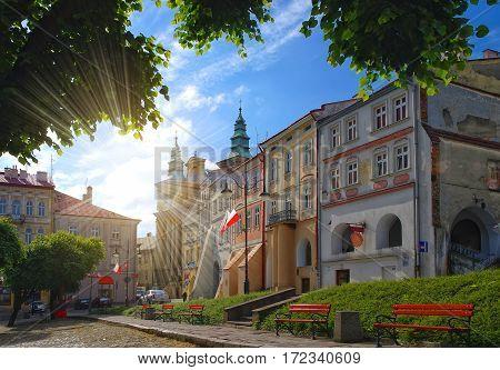 Old City Square In Przemysl, Poland